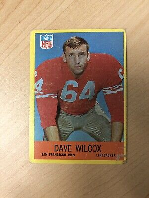 1967 Philadelphia #178 - DAVE WILCOX - 49ers Rookie Card RC -- NFL Hall of Famer