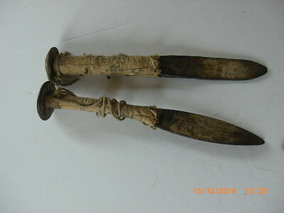 Antique Garden Wrought Iron Peg Nail Straight Line Flower Bed Bricklayer Tools