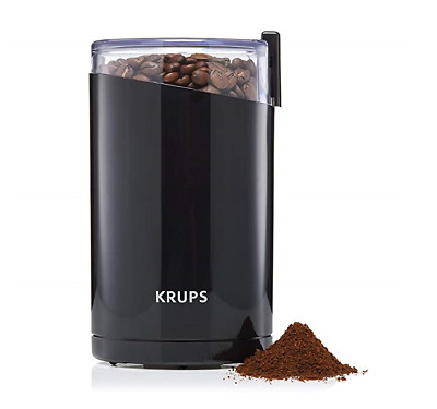 KRUPS F203 Electric Spice/Coffee Grinder, 3 oz, Black *New* D-15.1oc