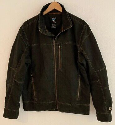 Men's KUHL Vintage Patina Dye Full Zip Up Jacket Brown Size M Medium EUC!