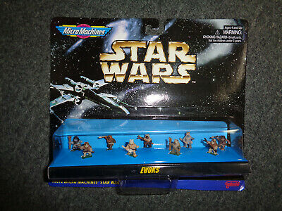 1996 Galoob Star Wars Micro Machines Ewoks 66076 Sealed Mint on Card 9 Figures