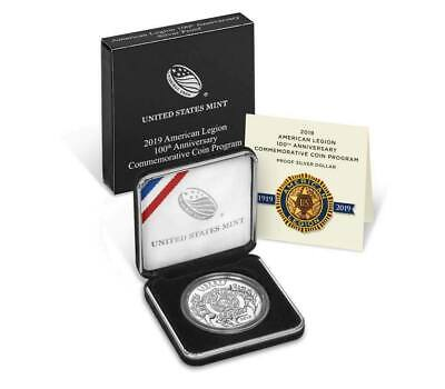 US Mint - 2019 (P) American Legion 100th Anniversary Proof Silver Dollar (19CL)