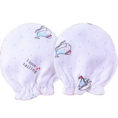 10*Soft Cotton Baby Newborn Anti Scratch Mittens Gloves Boy Girl Handguard