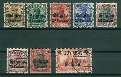 German Occupation 1914 - 1918 Belgium Single Values from 1 - 9, O