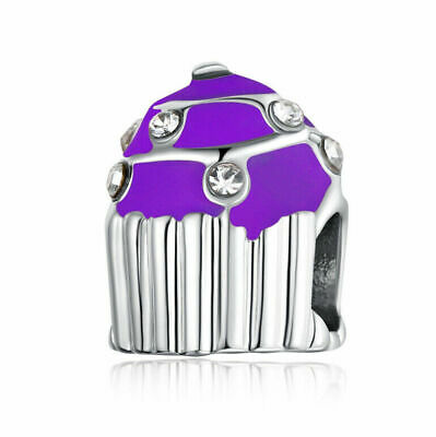 NEW European Silver plated Charm Bead Fit sterling 925 Necklace Bracelet D#144