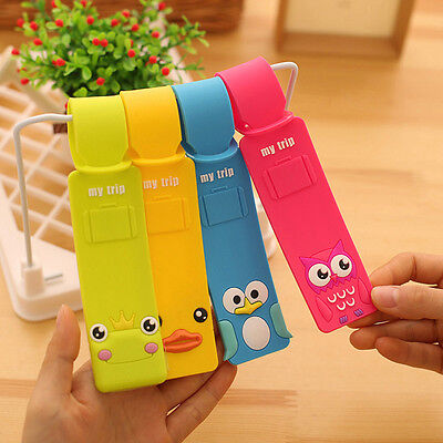 New Korean Silicone Travel Luggage Tags Baggage Suitcase Bag Labels Name Addr eo
