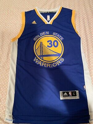 the latest c2f89 2e661 STEPHEN CURRY JERSEY Golden State Warriors #30 Home Blue Jersey Sz Adult L