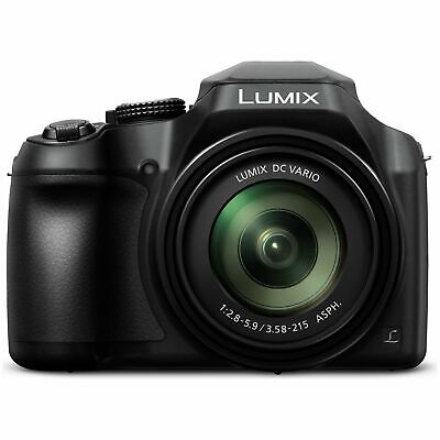 Panasonic FZ82 18MP 4K 3 Inch Built in Flash WiFi 60 x Zoom Bridge Camera Black