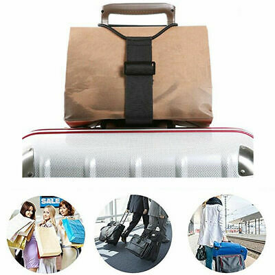 Add A Bag Strap Travel Luggage Suitcase Adjustable Belt Carry On Bungee Strap U7