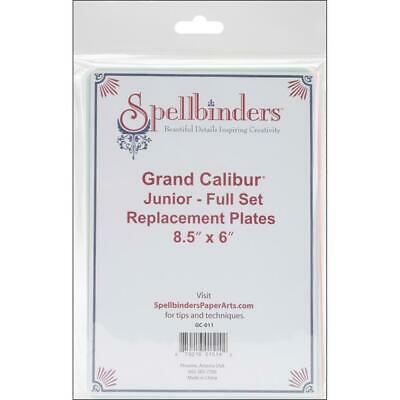 Spellbinders Grand Calibur Junior Replacement Plates Full Set 8.5x6""