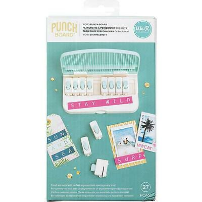 We R Memory Keepers Word Punch Board  27pc Set