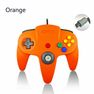 For Nintendo 64 Console N64 Classic Wired USB Controller Joystick Gamepad-Orange