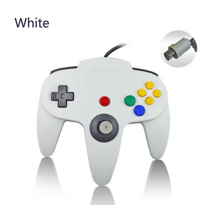 White Classic N64 Wired Controller Joystick Gamepad for Nintendo 64 Console