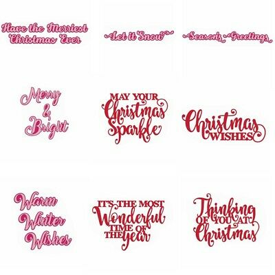 Expressions and Greetings Christmas Metal Cutting Dies Stencil Embossing Album