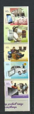 Australia 2012 Technology Then And Now Self Adhesive Mh Set Of 5