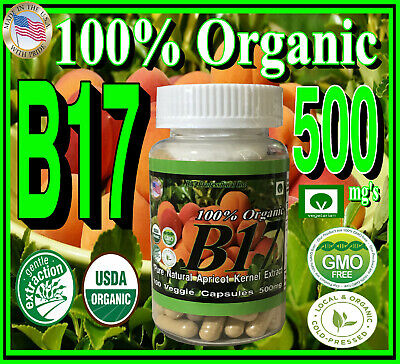 The Real Organic Natural Vitamin B17 Pure Bitter Apricot Kernel Seed Extract 500
