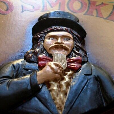 UNCLE SAM = NO SMOKING Plastisches Holz Reklameschild TOP Rauchen verboten TABAK