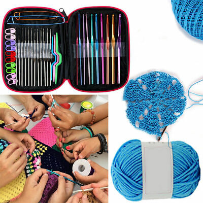 100pcs Ergonomic Crochet Hooks Set Knitting Needle Kit & Zipper Organizer Case