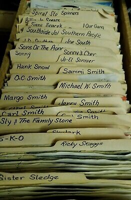 """100 COUNTRY records 45rpm Vinyl Records 7"""" Jukebox 45s! 5 requests included too!"""