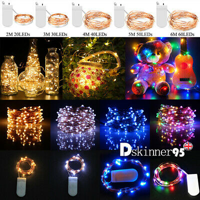Battery LED Micro Rice Wire Copper Fairy String Lights Festival Party Xmas Decor