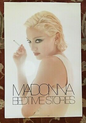 MADONNA  Bedtime Stories  rare original promotional poster from 1995