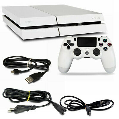 Playstation 4 PS4 Console CUH-1116A 500GB Bianco #32 + Tutti Cavo + Controller