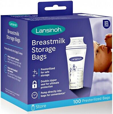 New Breast Milk Storage Bags, 100 Count