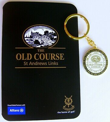2019 ST  ANDREWS (OLD COURSE) DOUBLE-SIDED Key Ring & SCORECARD