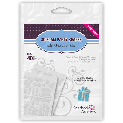 Scrapbook Adhesives 3D Foam Shapes Party 40pc