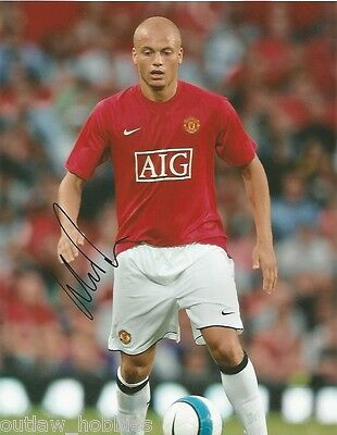 Manchester United Wes Brown Autographed Signed 8x10 Photo COA A