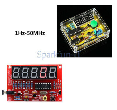 1PCS Crystal Oscillator Tester Frequency Counter 1Hz-50MHz DIY Kits Meter w/Case