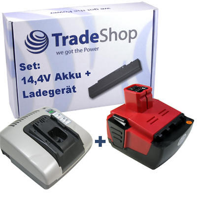 2in1 Set Piles 14,4V 3000mAh Liion + Chargeur pour Hilti SID144-A Cpc Siw 144-A