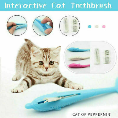 Interactive Cat Toothbrush Pet Molar Stick Silicone Teeth Cleaning Toy For Cats!