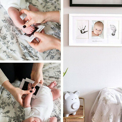 Baby Handprint Footprint Photo Frame Kit With An Included Clean-Touch Ink Pad AU