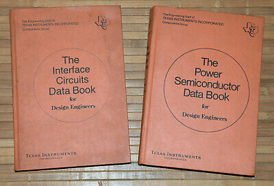 2x Texas Instruments Data Book • The Power Semiconductor + Interface Circuits