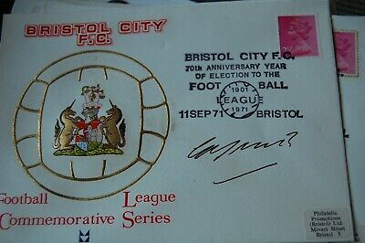 Bristol City  First Day Cover 1971 Signed By Geoff Merrick