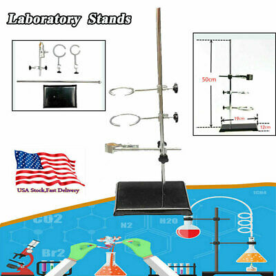 Retort 50cm/19.68in Laboratory Stand Support Lab Clamp Flask Clamp for Condenser