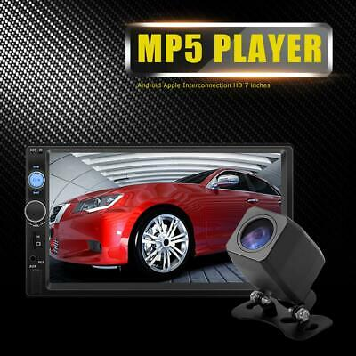 """Double 2 Din 7"""" Car Stereo FM MP5 Player Touch Radio Bluetooth Head Unit+Camera"""