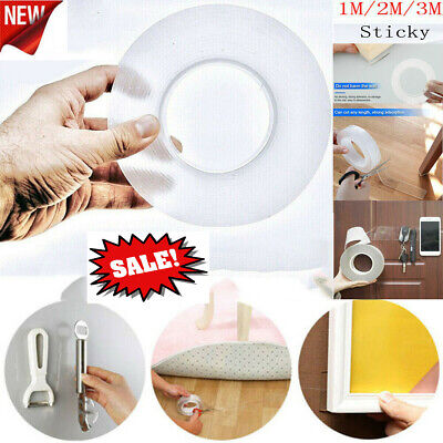 Magic Nano Tape Double Sided Grip Reusable Traceless Washable Invisible Tape Gel