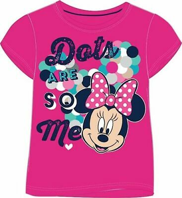 Girls T Shirt Minnie Mouse Disney Pink Top Kids T Shirts 18mths up to 7-8 yrs