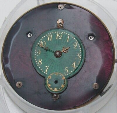 Swiss 1/4 Repeater 2 Tone Enamel Dial Hunter Movement, Spare Or Parts. Rare