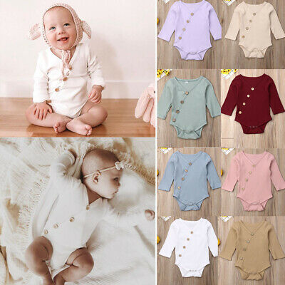Newborn Infant Baby Boy Girl Clothes Romper Cotton Bodysuit Jumpsuit Outfit NEW