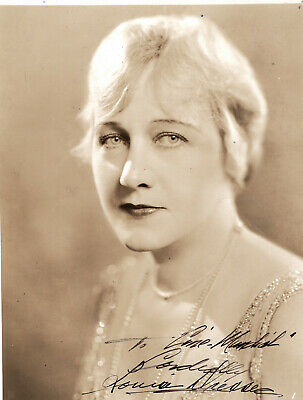 Silent Era Character Actress Louise Dresser ,Signed Vintage Studio Photo .