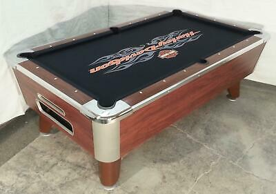 One Valley Cougar Bar Size Comm 7' Coin-Op Pool Table Refurb Harley Print