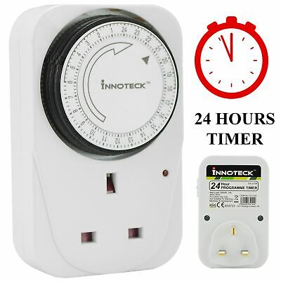 Plug In Mechanical Segment Time Timer Switch 24 Hour Mains 13A Uk Wall