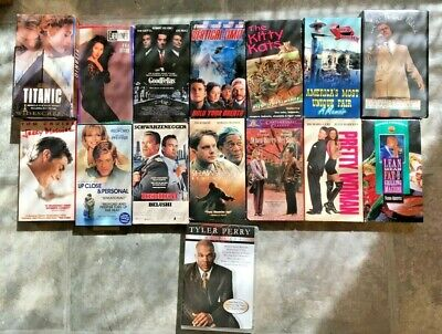 Lot of 15 VHS Movies For Adults Titanic Pretty Woman Phil Collins Goodfellas VHS