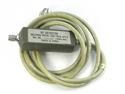 Wiltron 560-7S50 -Option 3 RF Detector.10MHz to 34GHz