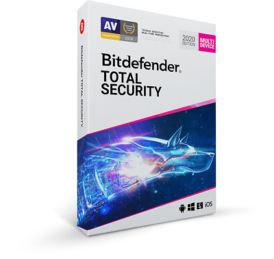Bitdefender Total Security 2020 | 1 Dispositivo | 2 Años + REGALO GRATIS