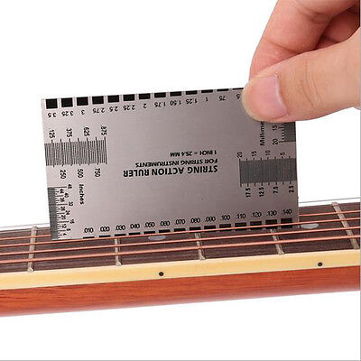 New String Act Gauge Rulers Guide Setup Guitar Bass Electric Measuring LuthierLU
