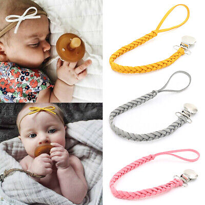 1Pc New baby pacifier clip chain holder nipple leash strap pacifier soother TELU